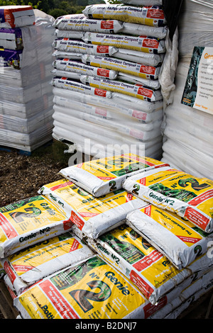 compost on sale in garden centre uk stock photo