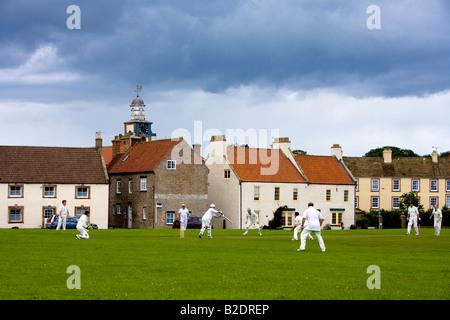 Village Cricket Match Scorton on Swale Richmond North Yorkshire - Stock Photo