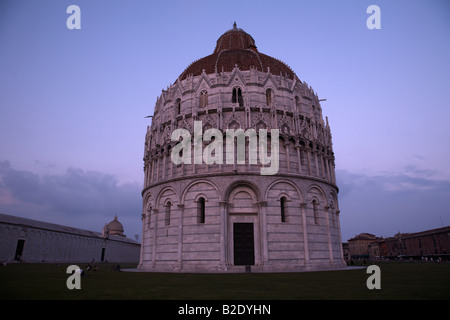 The Baptistry , Field of Miracles , Pisa , Italy - Stock Photo
