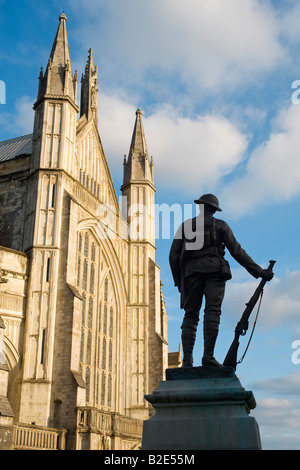 King's Royal Rifle Corps memorial, Winchester Cathedral, Hampshire, England, UK - Stock Photo