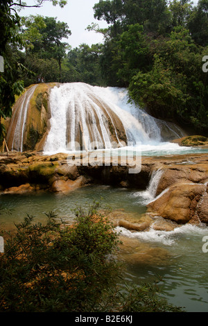 The Cataratas de Agua Azul, Nr Palenque, Chiapas State, Mexico. - Stock Photo