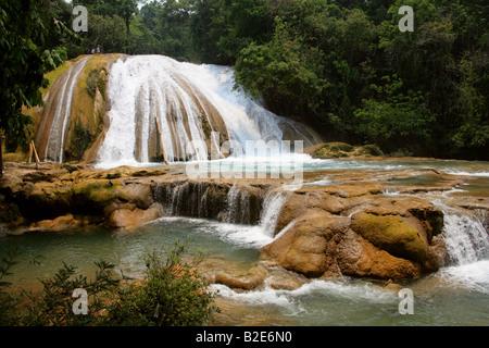The Cataratas de Agua Azul, Nr Palenque, Chiapas State, Mexico. - Stock Photo