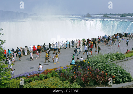 Horseshoe Falls of Niagara Falls in summer - Stock Photo
