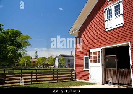 William Ford Barn in Greenfield Village at The Henry Ford in Dearborn Michigan - Stock Photo