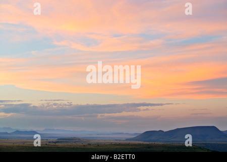 Karoo highveld scenery in the Mountain Zebra National Park - Stock Photo