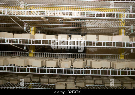 Sabta Gamila grandma Gamila Herbal soap shop and factory Bars of soap drying on a rack - Stock Photo