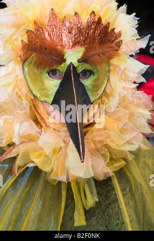 Venice Carnival costumed participant - Stock Photo