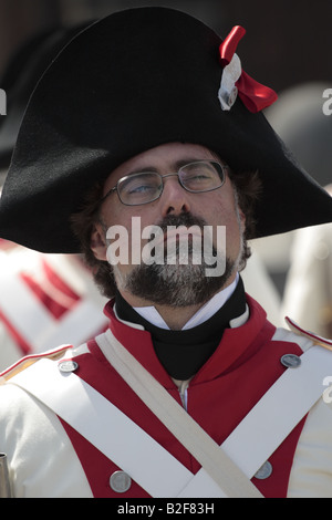 A member of the Spanish forces during a reenactment of the 1797 battle of Santa Cruz, Tenerife