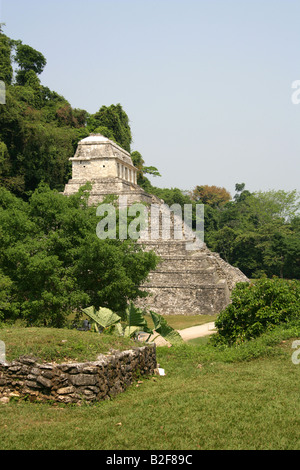 Temple of Inscriptions, Palenque Archealogical Site, Chiapas State, Mexico - Stock Photo