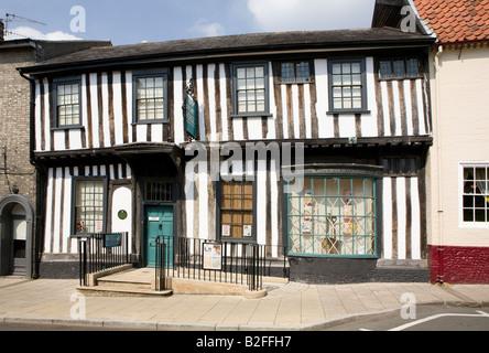 Ancient House Museum, White Hart Street, Thetford, Norfolk. UK Grade I listed. Renovated Tudor merchant's house. - Stock Photo