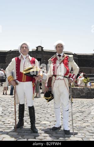 The Spanish General Guttierez and an officer played by L R Jesus Ruiz de Burgos Moreno and Jose Manuel Guerero, Santa Cruz, Tenerife