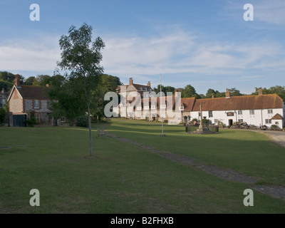 The village green at East Dean - Stock Photo