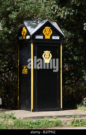 An old style AA phone box. - Stock Photo