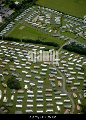 Mobile Home Park, on the coast north of Newcastle upon Tyne, North East England - Stock Photo