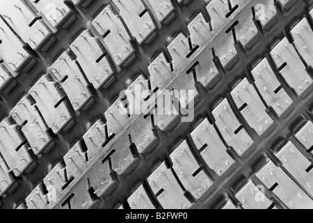 Close-up of tire tread - Stock Photo