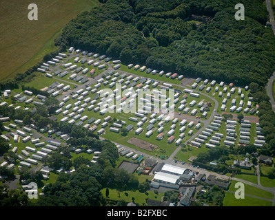 Mobile Home Park, north of Newcastle upon Tyne, North East England - Stock Photo