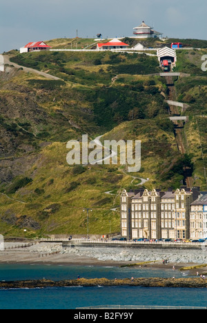 Aberystwyth Ceredigion west coast mid Wales UK 2008.  Cliff electric railway 'Constitution Hill' 2000s HOMER SYKES