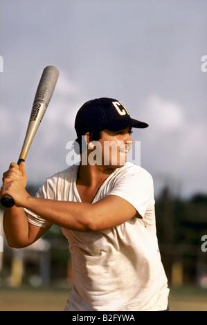 Young male baseball player in Havana, Cuba - Stock Photo