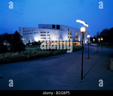 Opernhaus, Aalto-Theater bei Nacht, Essen, Ruhrgebiet, NRW - Stock Photo