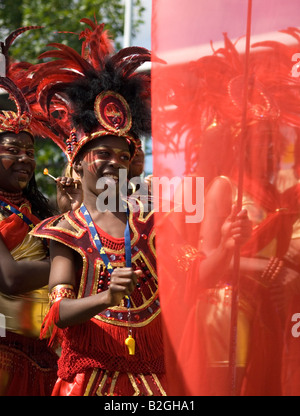 Notting Hill Carnival 2007, Children's Day Parade, 'Editorial use only' - Stock Photo
