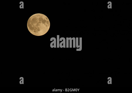 full moon night sky moonlight luna swiss switzerland - Stock Photo