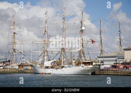 Liverpool Merseyside England UK July Christian Radich a Norwegian sail training ship entrant in Tall Ships race - Stock Photo