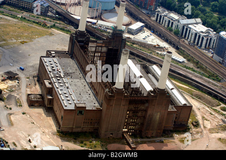 An Aerial View of Battersea Power Station - Stock Photo