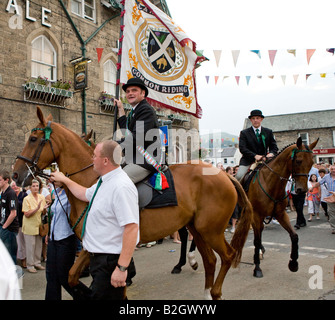 The Cornet With The Town Standard At The Langholm Common Riding Scotland UK - Stock Photo
