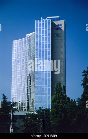 WIPO headquarters, Geneva, Switzerland - Stock Photo