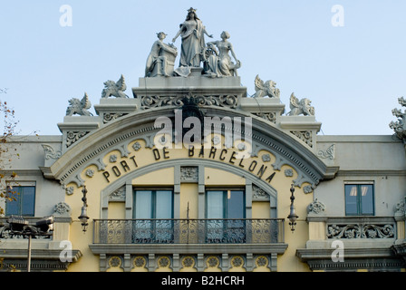 Rambla de Mar Port Vell barcelona - Stock Photo