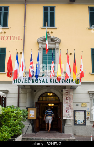 Hotel Royal Victoria Varenna Lake Como Italy Stock Photo - Varenna cuisine
