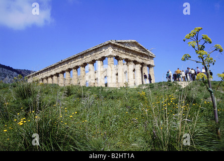 geography / travel, Italy, Sicily, Segesta (Egesta), Greek colony, founded 7th or 6th century BC, doric temple, - Stock Photo