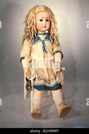 toys, dolls, character doll, bisque porcelain, height (sitting) 47 cm, Waltershausen, Germany, 1911, Additional - Stock Photo