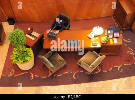Hotel Front Desk - Stock Photo