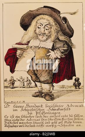 geography / travel, Germany, politics, caricature, 'Il callotto resuscitato or newly established dwarf cabinet', - Stock Photo