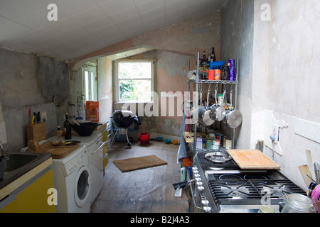 Interior of a Georgian/ Regency house in South East London undergoing renovation. - Stock Photo