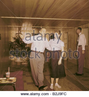 parties house party in the basement usa 1950s dancing 50s people