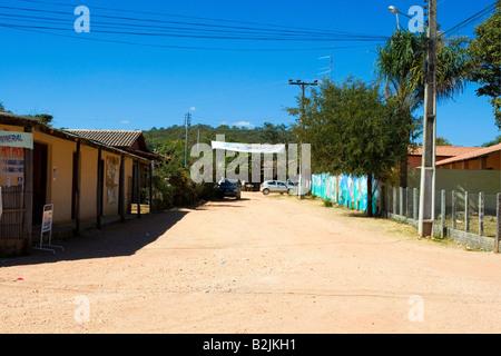 Povoado de São Jorge, Street Scene, Chapada dos Veadeiros, Goiás, Brazil, South America - Stock Photo