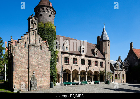 Part of the Gruuthuse Museum in the centre of the old town, Bruges, Belgium - Stock Photo