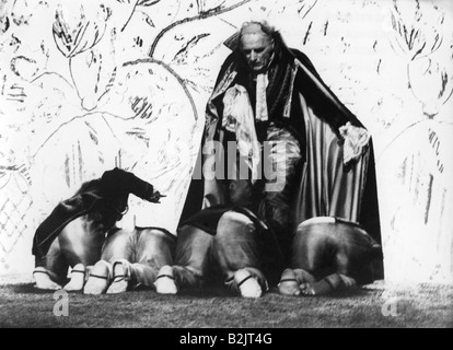 theatre / theater, 'Leonce and Lena', scene with:  Romuald Pekny (King Peter), director: Johannes Schaaf, 1975, - Stock Photo
