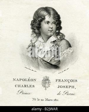 Napoleon Francois Joseph Charles Bonaparte, 20.3.1811 - 22.7.1832, Napoleon II of France, king of Rome until 1814, - Stock Photo