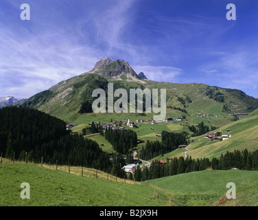 geography / travel, Austria, Vorarlberg, landscapes, view towards Warth, Additional-Rights-Clearance-Info-Not-Available - Stock Photo
