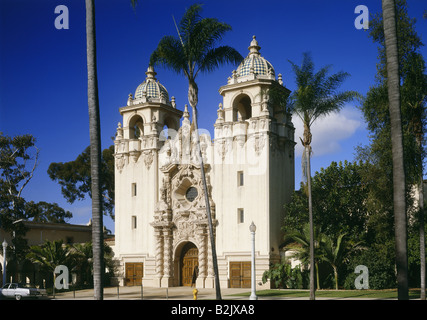 geography / travel, USA, California, San Diego, building in Balboa Park, exterior view, Additional-Rights-Clearance - Stock Photo