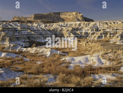 geography / travel, USA, Nebraska, Gering, landscapes, Scott Bluff National Monument, Additional-Rights-Clearance - Stock Photo