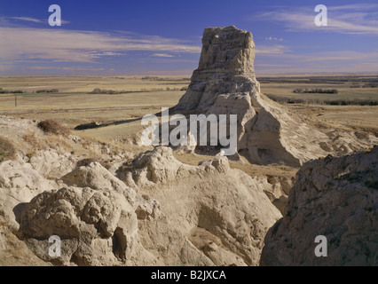 geography / travel, USA, Nebraska, Bridgeport, landscapes, rock formation Jail Rock, Additional-Rights-Clearance - Stock Photo