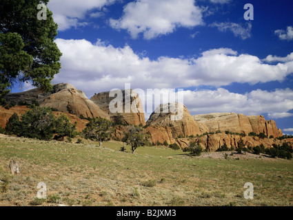 geography / travel, USA, New Mexico, landscapes, Red Rock Valley at Navajo, Additional-Rights-Clearance-Info-Not - Stock Photo