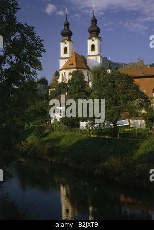 geography / travel, Germany, Bavaria, Aschau, churches, parish church 'Zur Darstellung des Herrn', exterior view, - Stock Photo