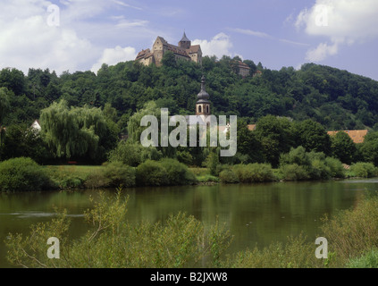 geography / travel, Germany, Bavaria, Rothenfels, castles, Castle Rothenfels, built circa 1148, exterior view, Additional - Stock Photo