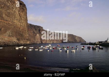 geography / travel, Spain, Canary Islands, La Gomera, Vueltas, beaches, Playa de Vueltas, Valle Gran Rey, Additional - Stock Photo