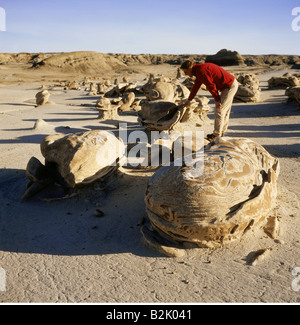 geography / travel, USA, New Mexico, landscapes, Bisti Wilderness, 'Cracker Eggs', stone formations, Additional - Stock Photo